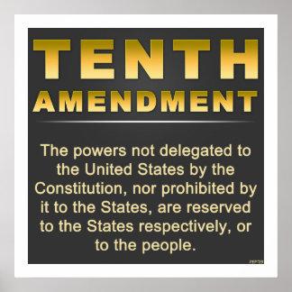 Décima enmienda póster