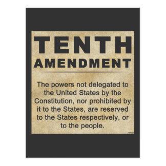 Décima enmienda tarjeta postal