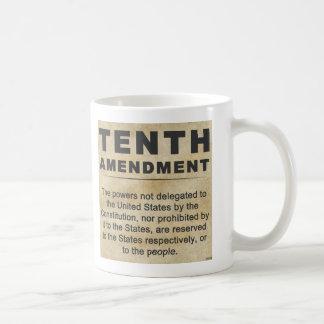 Décima enmienda taza básica blanca