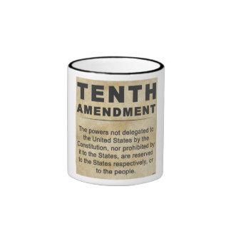 Décima enmienda taza de dos colores