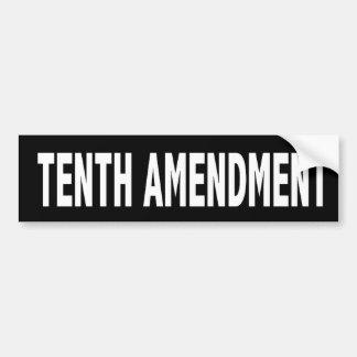 Décima pegatina para el parachoques de la enmienda pegatina para auto