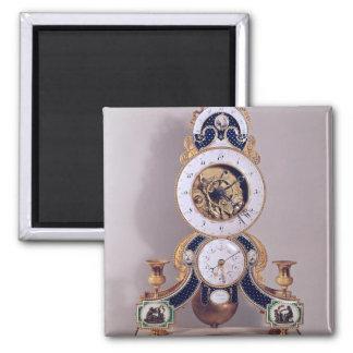 Decimal and duodecimal clock 2 inch square magnet