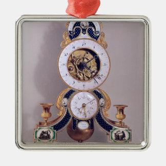 Decimal and duodecimal clock metal ornament