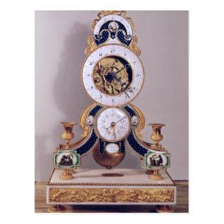 Decimal and duodecimal clock postcard