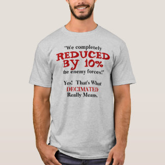 Decimated.  The REAL definition. T-Shirt