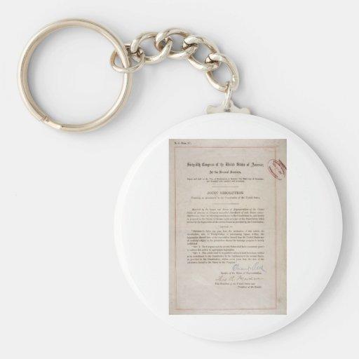Décimo octava enmienda de la prohibición llaveros