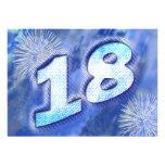 décimo octava invitación de la fiesta de cumpleaño