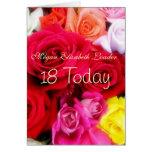 Décimo octava tarjeta de la foto del cumpleaños de