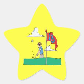décimo octavo Agujero Pegatina En Forma De Estrella