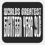 décimo octavo Años más grandes de los mundos del Pegatina Cuadrada