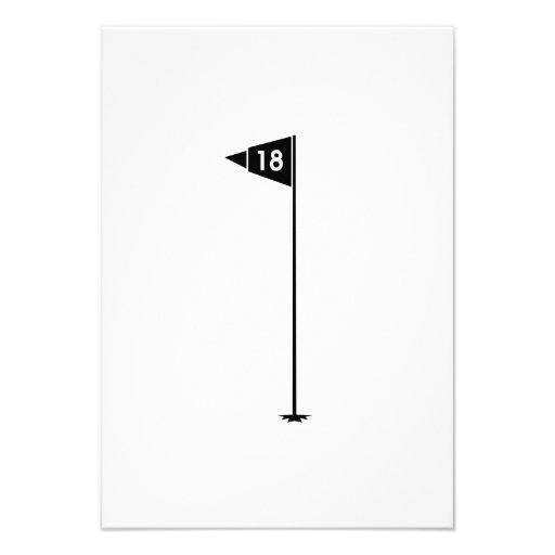 décimo octavo Bandera del golf del agujero Comunicado