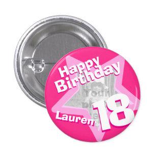décimo octavo Botón/insignia de las rosas fuertes  Pin Redondo De 1 Pulgada