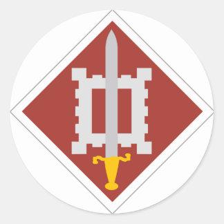 décimo octavo Brigada del ingeniero Pegatina Redonda