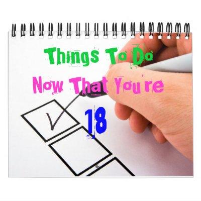 décimo octavo Calendario de Bday