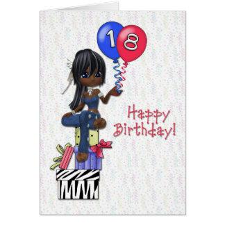 décimo octavo Chica del cumpleaños Tarjeta De Felicitación