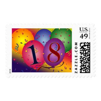 ¡Décimo octavo cumpleaños feliz! Sellos