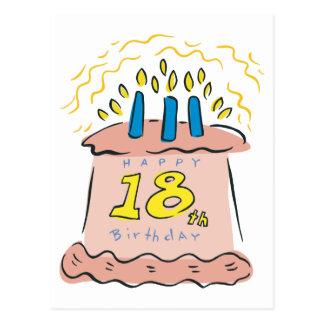 ¡Décimo octavo cumpleaños feliz! Tarjeta Postal
