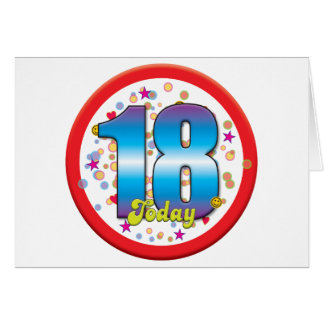 décimo octavo Cumpleaños hoy v2 Felicitaciones