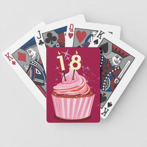 décimo octavo cumpleaños - magdalena rosada barajas de cartas