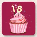 décimo octavo cumpleaños - magdalena rosada posavasos
