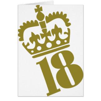 décimo octavo cumpleaños - número - dieciocho tarjeta