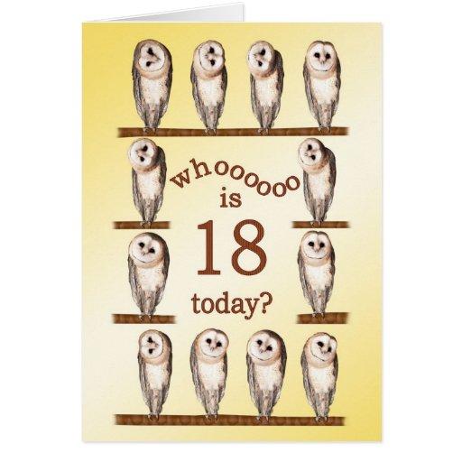 décimo octavo cumpleaños, tarjeta curiosa de los