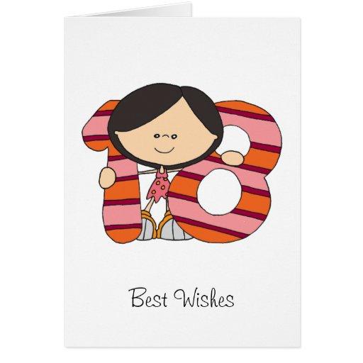 décimo octavo cumpleaños - tarjeta de felicitacion