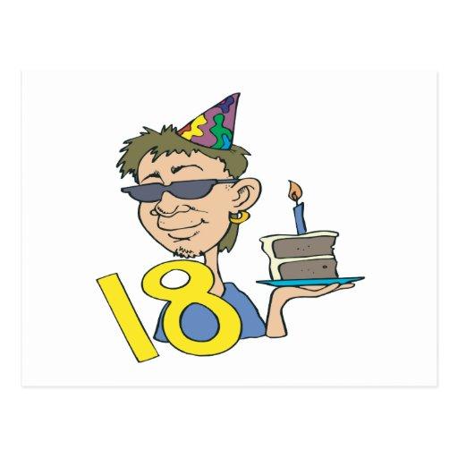 décimo octavo Cumpleaños Tarjeta Postal