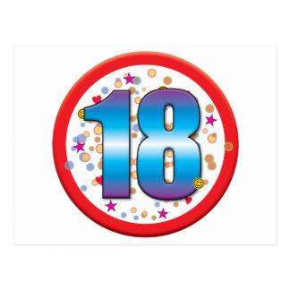 décimo octavo Cumpleaños v2 Postales