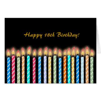 décimo octavo El cumpleaños mira al trasluz Tarjeta De Felicitación
