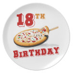 décimo octavo Fiesta de la pizza del cumpleaños Plato De Cena