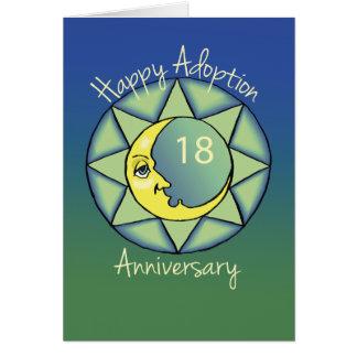 décimo octavo Gotcha luna del aniversario del Tarjeta De Felicitación
