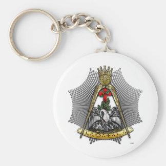 décimo octavo Grado: Caballero del Croix color de  Llavero Redondo Tipo Pin