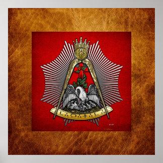 décimo octavo Grado: Caballero del Croix color de  Poster