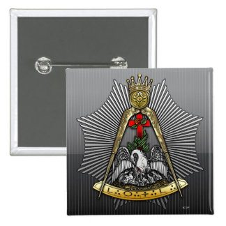 décimo octavo Grado: Caballero del Croix color de Pin Cuadrado