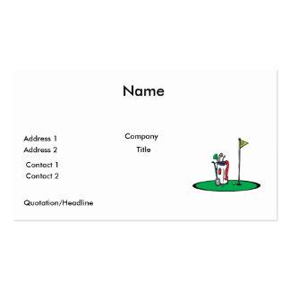 décimo octavo gráfico del golf del agujero tarjetas de visita