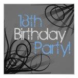 décimo octavo Invitaciones de la fiesta de Invitación 13,3 Cm X 13,3cm