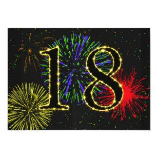 """décimo octavo invitate de la fiesta de cumpleaños invitación 5"""" x 7"""""""