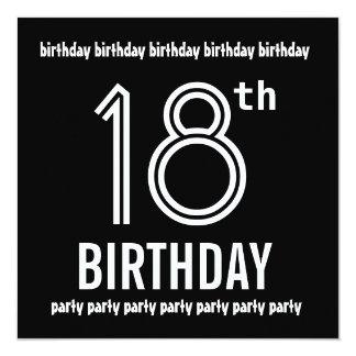 décimo octavo La fiesta de cumpleaños invita a la Invitación