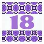 décimo octavo La púrpura festiva de la fiesta de Invitación 13,3 Cm X 13,3cm