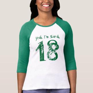 décimo octavo Nombre de encargo del regalo de Camiseta