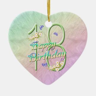 décimo octavo Ornamento del corazón del recuerdo Adorno Para Reyes
