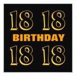 décimo octavo Oro moderno del cumpleaños Anuncios Personalizados
