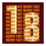 Décimo octavo oro y Brown W1051 del cumpleaños del Invitación 13,3 Cm X 13,3cm