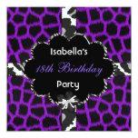 décimo octavo Púrpura blanca de cumpleaños del Comunicado