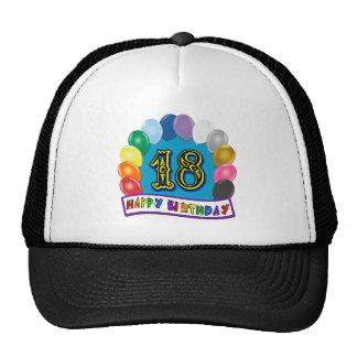 décimo octavo Regalos de cumpleaños con diseño cla Gorras