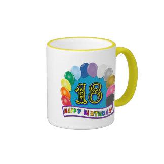 décimo octavo Regalos de cumpleaños con diseño cla Taza