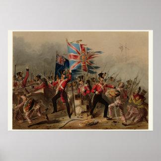 décimo octavo Regimiento irlandés real en Amoy Posters
