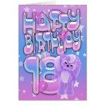 décimo octavo Tarjeta de cumpleaños linda con la p
