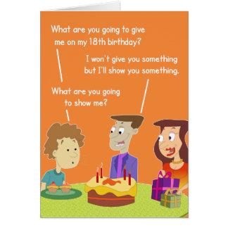 décimo octavo Tarjeta de regalo de cumpleaños